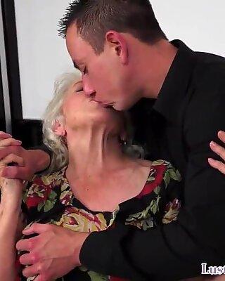 Euro grandma titty fucked before dicksucking