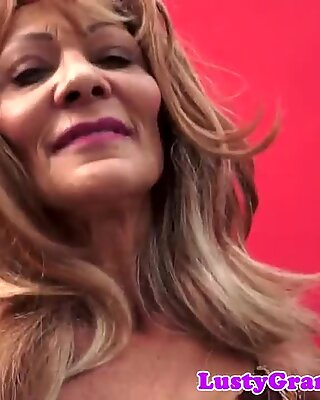 Mature fucked doggystyle after fun with toys