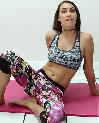 Nude Yoga? Hell Yes! Sweet Kimber Lee Gives Hot JOI While Stretching!