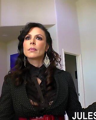 Jules Jordan - Kendra Lust Big boob milf double Dicked