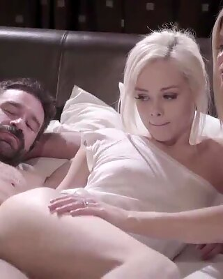 Elsa Jean watch her hot foster mom India Summers fucked