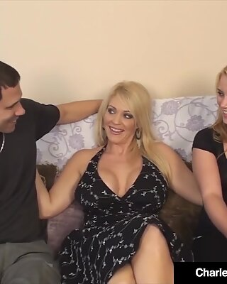 warm cougar Charlee chase Watches Hubby CreamPie Girlfriend?!
