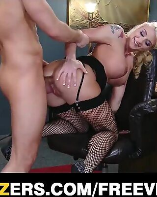 Submissive blonde secretary is dominated by her new boss