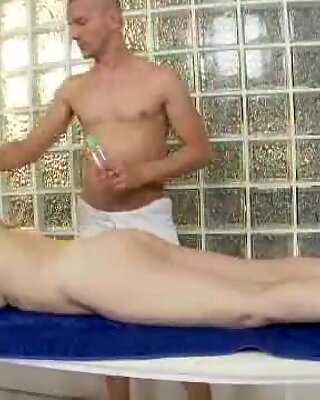 Oiled granny loves her her soggy snatch pulverized