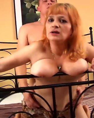 Chubby 70 years old mom wild fucked