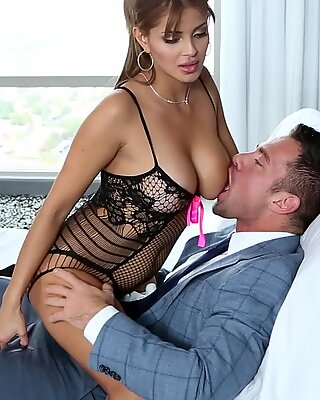 Bianca teases and fucks her lucky man