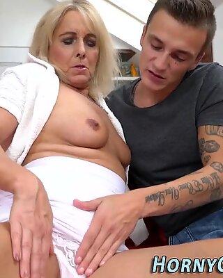 Hot grandma sucks dick