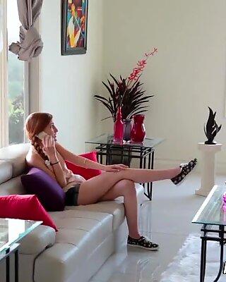 Two teens webcam fun Stepboss'_s daughter Sick Days