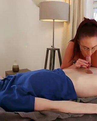 Milf banged in kitchen Big Tit Step-Mom Gets a Massage - Emma Butt