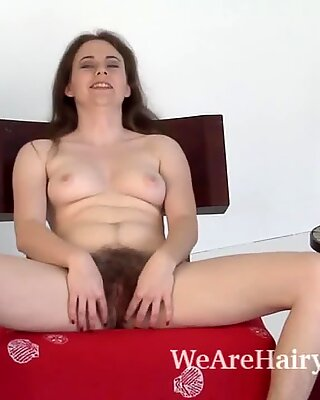 Left with time Camille gets naked and masturbates