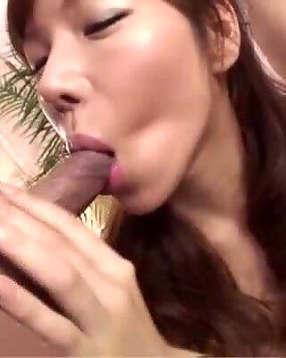 Serina Hayakawa sleazy porn scenes during top threesome