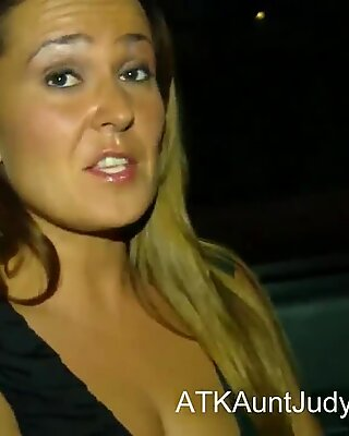 Lesbian sex out in public in a car with Elexis Monroe and Al