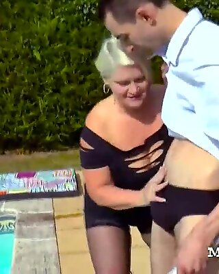 Granny Sucked Off Her Cocked Lover