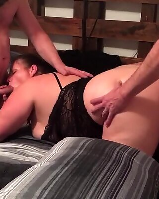 My Sexy BBW Wife getting Fucked and Sucking Cock with a Friend