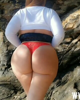 Latina with a huge ass gets a good fuck in the bush