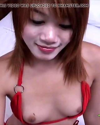 TUKTUKPATROL Hairy Pussy Thai Teen Fuck & Cum Dripped On Lip