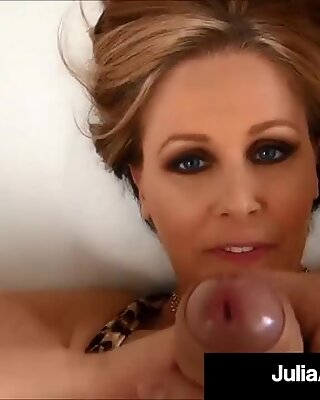 World Famous Cougar Julia Ann Gets A Load Of Cum On Boobs!