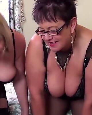 Mature ladies enjoying hardcore fuck and sexy fun