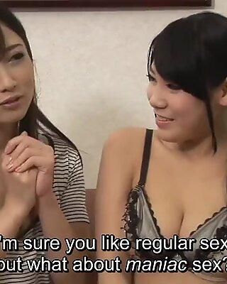 JAV star Hibiki Otsuki new lesbian friend CFNF ENF Subtitled