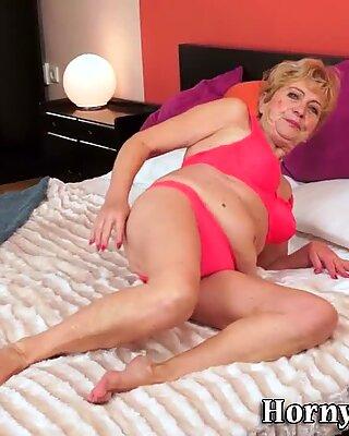 Lingerie granny spunked
