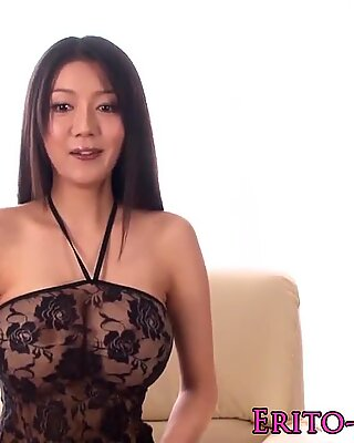 Busty asian model Miho Ichiki gets a creampie