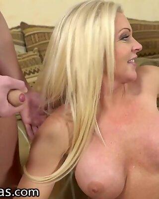 LustyGrandmas Hot Mature Devours Teen Dick