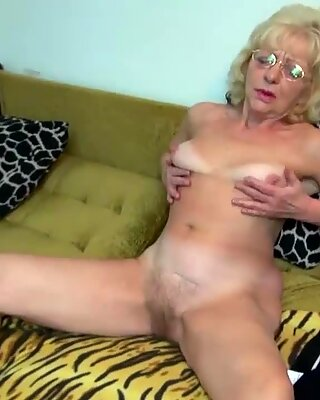 Grandma gets shagged by a fuck toy