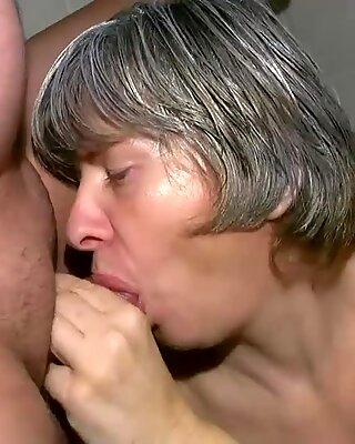 OldNanny Granny sucking dick and fucking hard
