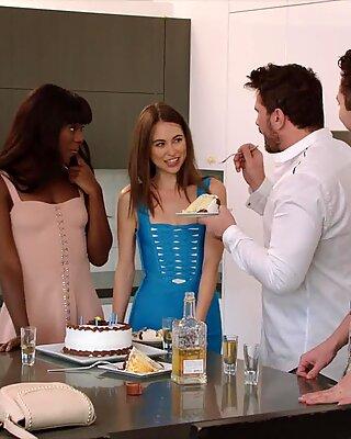 VIXEN Riley Reid Has Intense Threesome With Ana Foxxx And Boyfriend