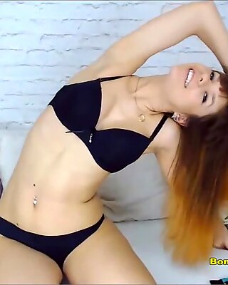 Young hot redhead babe sweet fingering