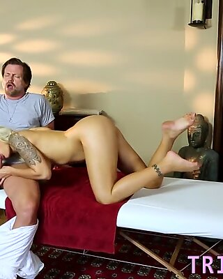 Massaged milf eaten out and pounded
