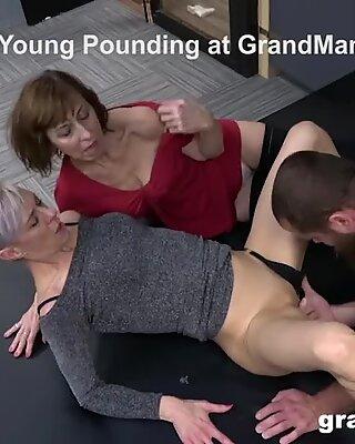 Mature Whores Fucking a Stud
