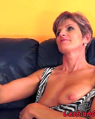 Masturbating grandma eats out tight lesbo
