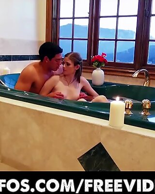 Shy young GF is talked into making a sex tape with her man