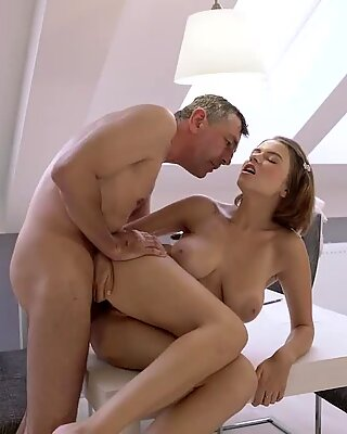 OLD4K. Experienced dad and buxom cutie embark sex in various poses