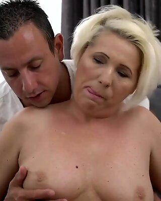 Blonde GILF Bibi Pink doggystyle fuck