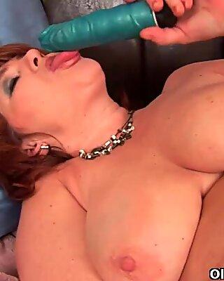 Full figured grandma Valencia with her big tits needs an orgasm