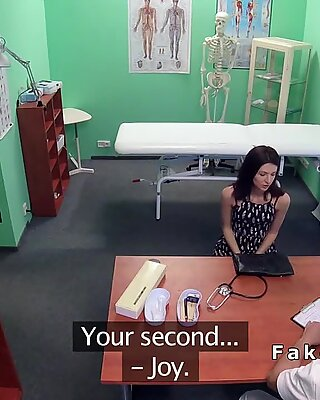 Doctor eats and fucks hairy cunt patient