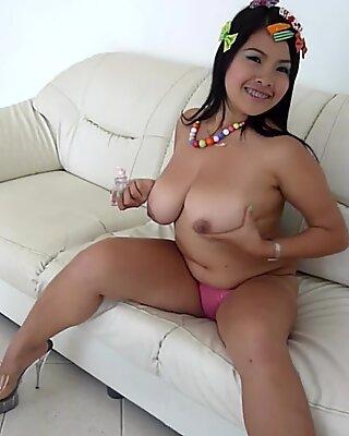 big inborn globes on this Thai girl