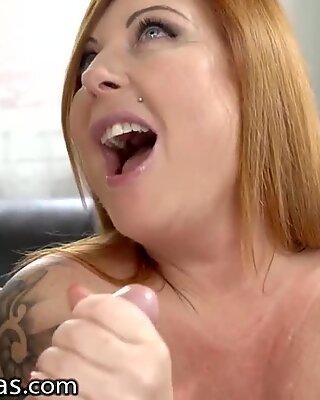 LustyGrandmas Redhead Mature Gets her Best Drilling in Years