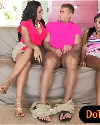 Katt Dylan and Rio Lee sharing on hard cock and warm cum