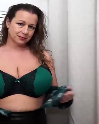 Amateur mother with big saggy tits and pussy