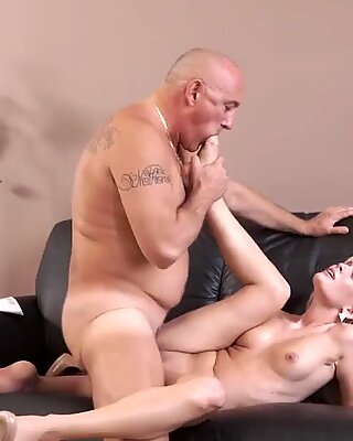 Old granny threesome He could fuck her all day long, so super-sexy she was...