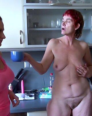 OldNannY Horny Grandma Threesome Hardcore Sex