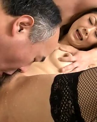 Chaps are taking turns pounding asian babes muff