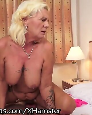 LustyGrandmas Curvy Grandma Moans for Youthful Cock