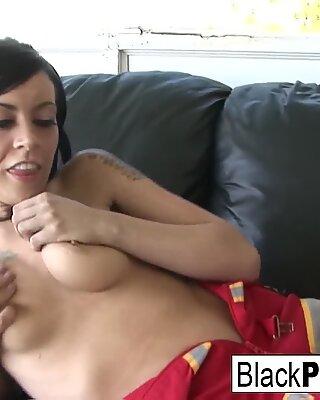 Vanessa fucks a black pole