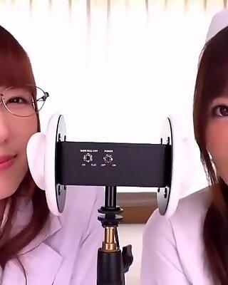 japanese idol girl ASMR, Ear licking