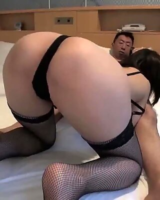 Hottest Japanese Fucked In Fishnet Stockings