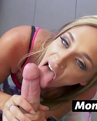 Horny milf in need of jizz seduces and bangs her stepson